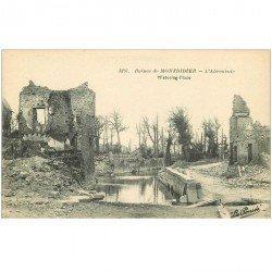 carte postale ancienne 80 MONTDIDIER. Ruines Guerre 1914. L'Abreuvoir