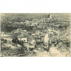 carte postale ancienne 80 MONTDIDIER. Ruines Guerre 1914. Route d'Ailly