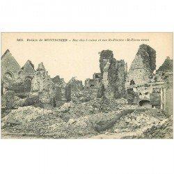 carte postale ancienne 80 MONTDIDIER. Ruines Guerre 1914. Rues des 6 Coins et Saint-Pierre
