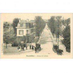 carte postale ancienne 80 MONTDIDIER. Tabac Hôtel et Fiacres Avenue de la Gare. Impeccable et vierge