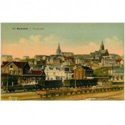 carte postale ancienne 80 MONTDIDIER. Vue générale sur la Gare. Edition Fafet photo Galland. Impeccable et vierge