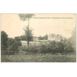 carte postale ancienne 14 VIRE. Carte Photo Rue du Calvados détruite