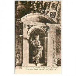 carte postale ancienne 84 AVIGNON. Cathédrale Autel Sainte-Marthe