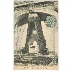 carte postale ancienne 84 AVIGNON. Cathédrale le Siège des Papes 1903