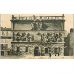 carte postale ancienne 84 AVIGNON. Conservatoire de Musique ancien Hôtel des Monnaies 1913