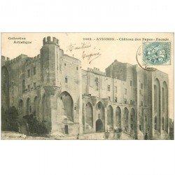 carte postale ancienne 84 AVIGNON. Le Palais des Papes Château 1903