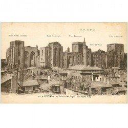 carte postale ancienne 84 AVIGNON. Le Palais des Papes façade Est