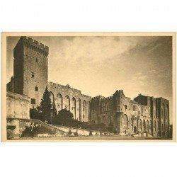 carte postale ancienne 84 AVIGNON. Le Palais des Papes façade Principale