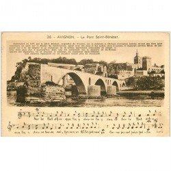 carte postale ancienne 84 AVIGNON. Le Pont Saint-Bénézet 1939