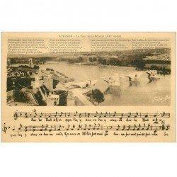 carte postale ancienne 84 AVIGNON. Le Pont Saint-Bénézet avec partition