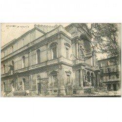 carte postale ancienne 84 AVIGNON. Le Théâtre et Grand Café 1921