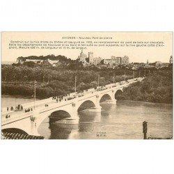 carte postale ancienne 84 AVIGNON. Nouveau Pont de Pierre