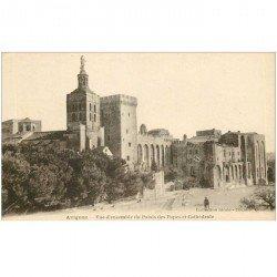 carte postale ancienne 84 AVIGNON. Palais des Papes et Cathédrale. Cpa neuve