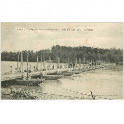 carte postale ancienne 84 AVIGNON. Pont de bateaux du 7ème Génie pour la Parade 1915
