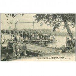 carte postale ancienne 84 AVIGNON. Travaux du 7ème Génie Traille pour transbordement Tampon militaire 1915