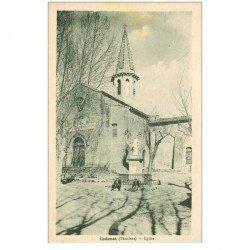carte postale ancienne 84 CADENET. L'Eglise avec personnages assis