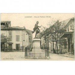carte postale ancienne 84 CADENET. Place du Tambour d'Arcole