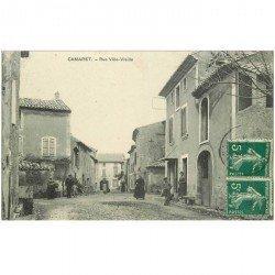 carte postale ancienne 84 CAMARET SUR AIGUES. Rue Ville Vieille 1910
