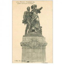 carte postale ancienne 84 ORANGE. Monument Soldats Morts pour la Patrie