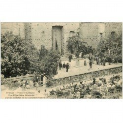 carte postale ancienne 84 ORANGE. Répétition par Artistes de la Comédie Française. Théâtre antique Comédiens
