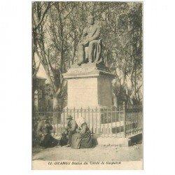 carte postale ancienne 84 ORANGE. Statue du Comte de Gasparin et l'heure du casse croute