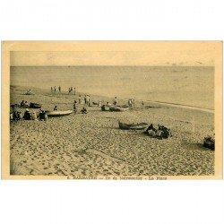 carte postale ancienne 85 BARBATRE. Ile de Noirmoutier la Plage 1949