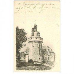 carte postale ancienne 85 BESSAY. La Tour du Château 1902