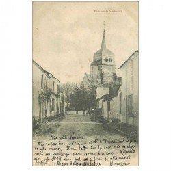 carte postale ancienne 85 BOIS DE CENE. L'Eglise 1906 animation