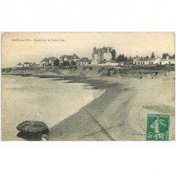 carte postale ancienne 85 CROIX DE VIE. Châlets de la Petite Côte