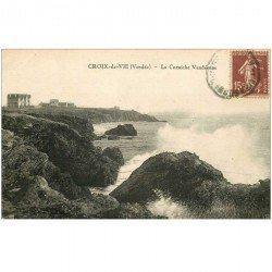 carte postale ancienne 85 CROIX DE VIE. La Corniche Vendéenne 1930
