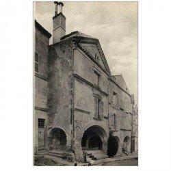 carte postale ancienne 85 FONTENAY LE COMTE. Maison à Porche de Jean Morisson. Carte photo émaillographie