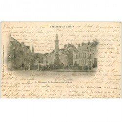 carte postale ancienne 85 FONTENAY LE COMTE. Monument des Combattants 1903
