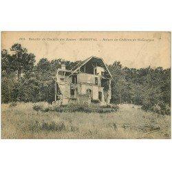 carte postale ancienne 02 MARGIVAL. Ruines Château Saint-Georges 1924