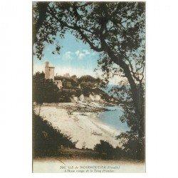 carte postale ancienne 85 ILE DE NOIRMOUTIER. Anse Rouge et Tour Plantier