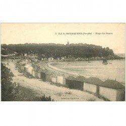 carte postale ancienne 85 ILE DE NOIRMOUTIER. Plage des Dames