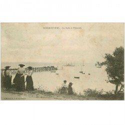 carte postale ancienne 85 ILE DE NOIRMOUTIER. Rade et Estacade 1904