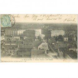carte postale ancienne 85 LA ROCHE SUR YON. Caserne Travot 1903 Affiche Milliasseau Magasin d'armes