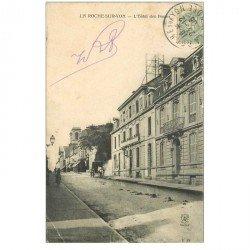 carte postale ancienne 85 LA ROCHE SUR YON. Hôtel des Postes 1905. Pli coin gauche
