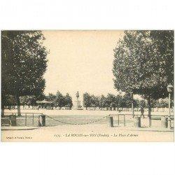 carte postale ancienne 85 LA ROCHE SUR YON. La Place d'Armes
