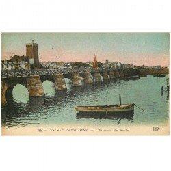 carte postale ancienne 85 LES SABLES D'OLONNE. Estacade des Sables 1924