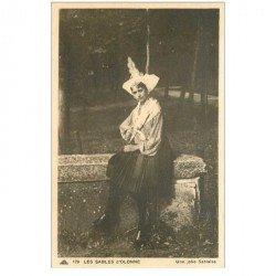 carte postale ancienne 85 LES SABLES D'OLONNE. Jolie Sablaise