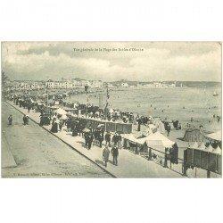 carte postale ancienne 85 LES SABLES D'OLONNE. La Plage 1904 Tampon Azema à Paris Rue Jeanne Arc
