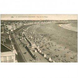 carte postale ancienne 85 LES SABLES D'OLONNE. La Plage 1928
