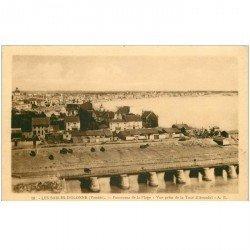 carte postale ancienne 85 LES SABLES D'OLONNE. La Plage 1932 vue prise de la Tour Arundel