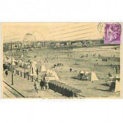 carte postale ancienne 85 LES SABLES D'OLONNE. La Plage 1936