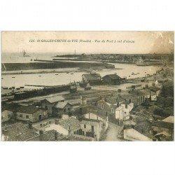 carte postale ancienne 85 SAINT GILLES CROIX DE VIE. Le Port 1930 en l'état