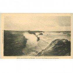 carte postale ancienne 85 SION. Les Rochers Grotte des Pradets