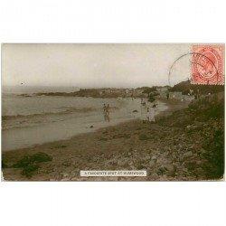 carte postale ancienne AFRIQUE DU SUD. A favourite spot at Humewood 1917. Carte photo émaillographie