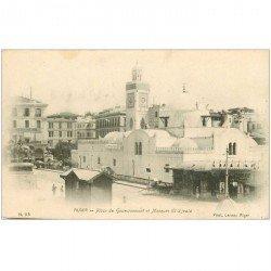 carte postale ancienne Algérie. ALGER. Mosquée El Djeaid Place du Gouvernement vers 1900