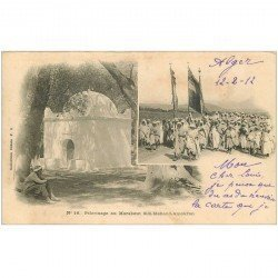carte postale ancienne Algérie. ALGER. Pélerinage au Marabout Sidi Mahand Amokran 1912
